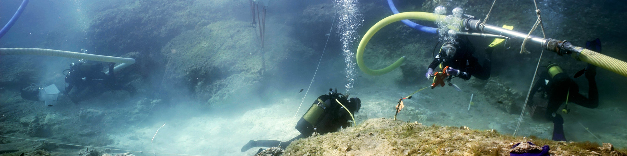 Underwater excavation at Marzamemi